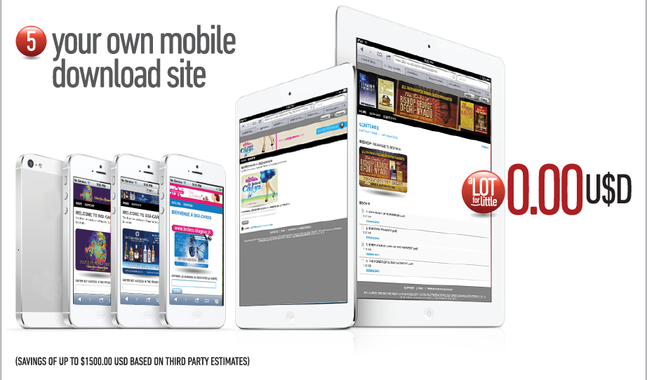 5. Your own mobile download site