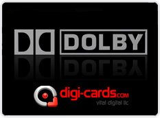 DIGI-CARDS WILL OFFER DOLBY® VIDEO & AUDIO DOWNLOADS
