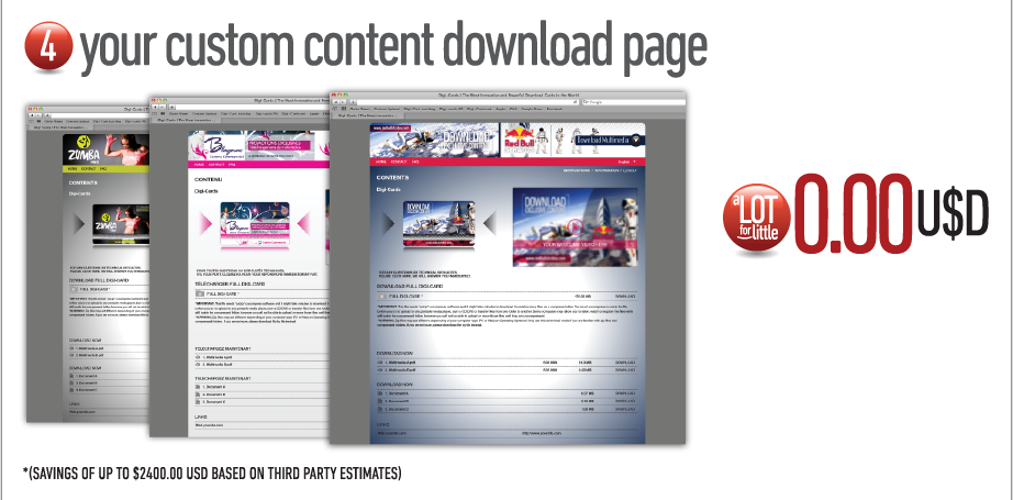 4. Your custom content download page